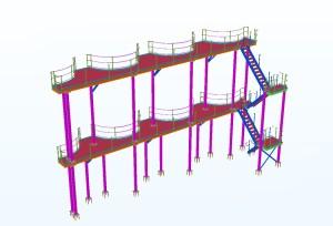 Steel Platform and ladders