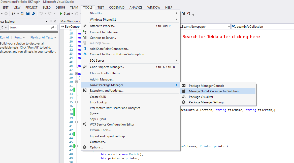 How to Set Up a Tekla API Project (Tekla API Application
